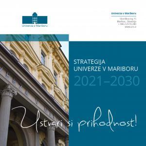 Naslovnica za Strategija Univerze v Mariboru 2021–2030