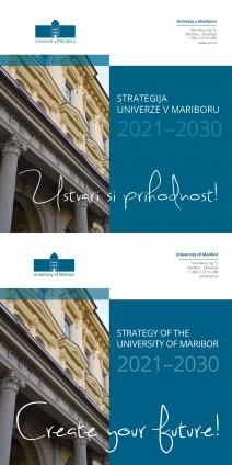 Naslovnica za Strategija Univerze v Mariboru 2021–2030 / Strategy of the University of Maribor 2021–2030