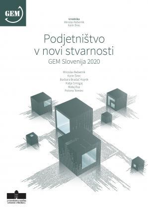 Naslovnica za Podjetništvo v novi stvarnosti: GEM Slovenija 2020