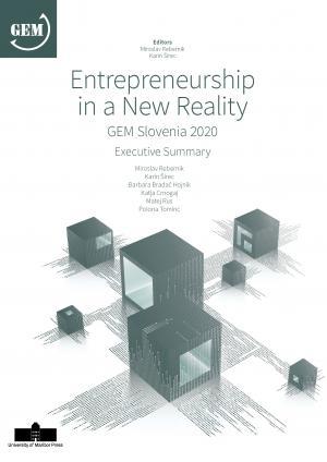 Naslovnica za Entrepreneurship in a New Reality: GEM Slovenia 2020, Executive Summary