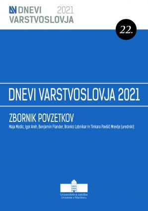 Naslovnica za 22. Dnevi varstvoslovja, Ljubljana, 9. in 10. junij 2021: Zbornik povzetkov