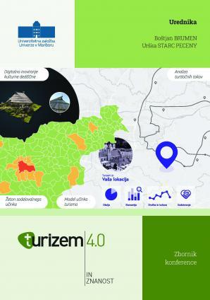 Naslovnica za Zbornik konference »Turizem 4.0 in znanost«