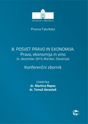 Naslovnica za 8. Posvet pravo in ekonomija