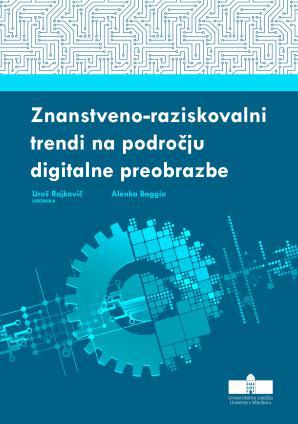 Naslovnica za Znanstveno-raziskovalni trendi na področju digitalne preobrazbe