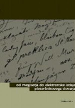 Naslovnica za Od Megiserja do elektronske izdaje Pleteršnikovega slovarja